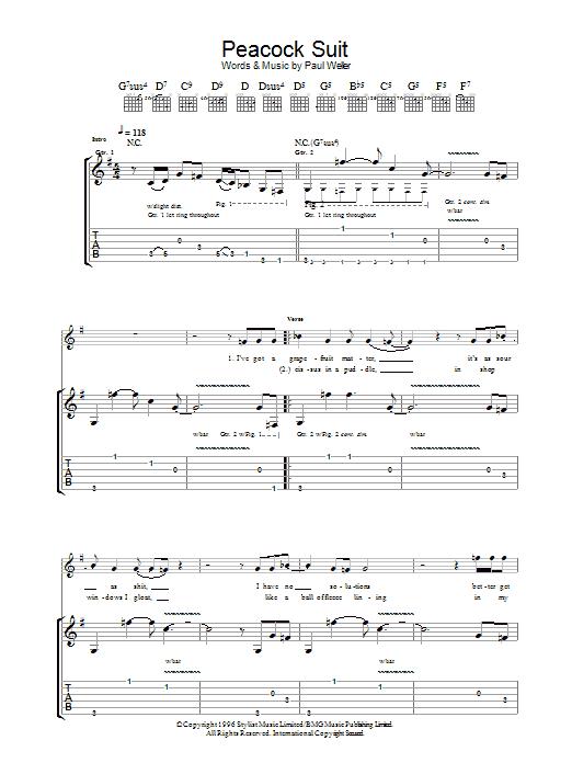 Peacock Suit (Guitar Tab)