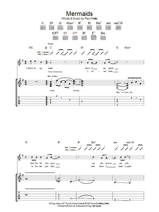 Mermaids (Guitar Tab)