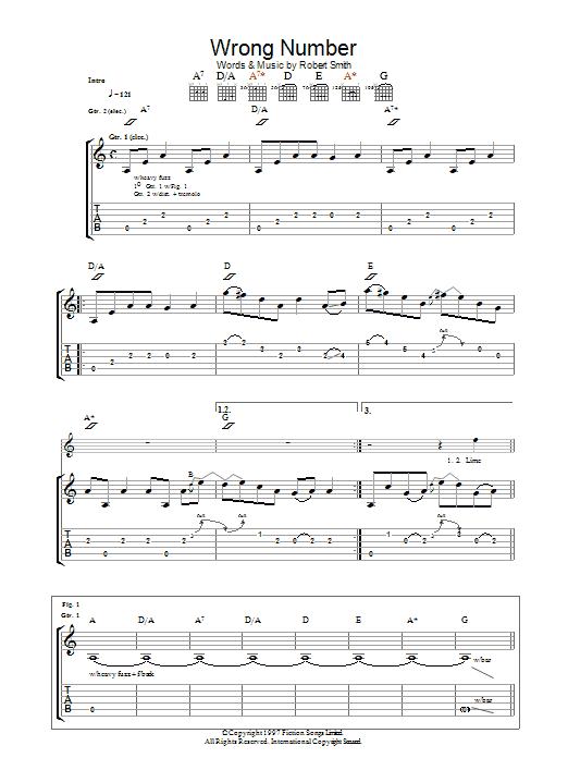 Wrong Number (Guitar Tab)
