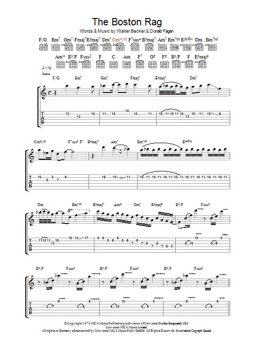 The Boston Rag (Guitar Tab)