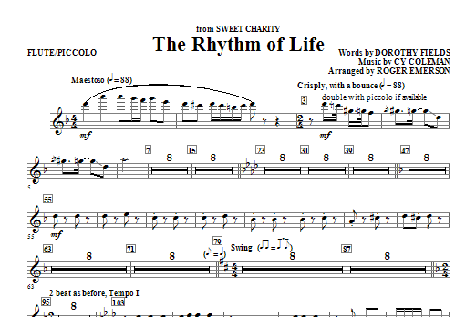 The Rhythm Of Life - Flute/Piccolo (Choir Instrumental Pak)