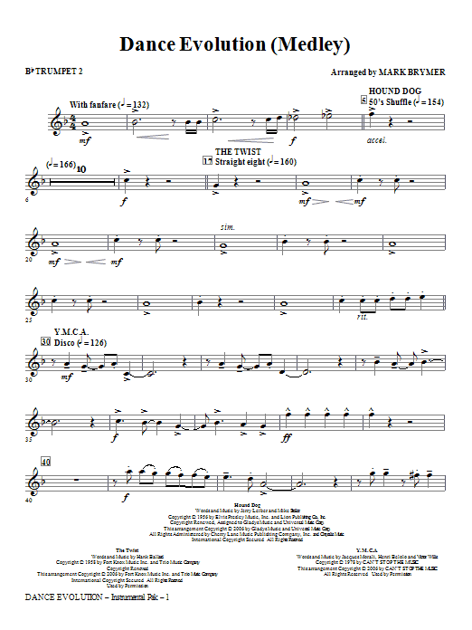 Dance Evolution (Medley) - Bb Trumpet 2 Sheet Music