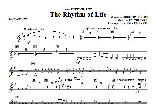 The Rhythm Of Life - Bb Clarinet (Choir Instrumental Pak)