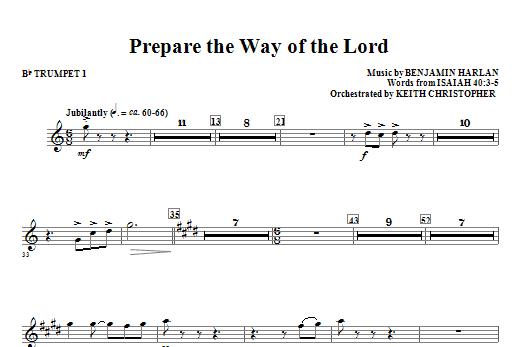 Prepare The Way Of The Lord - Bb Trumpet 1 (Choir Instrumental Pak)