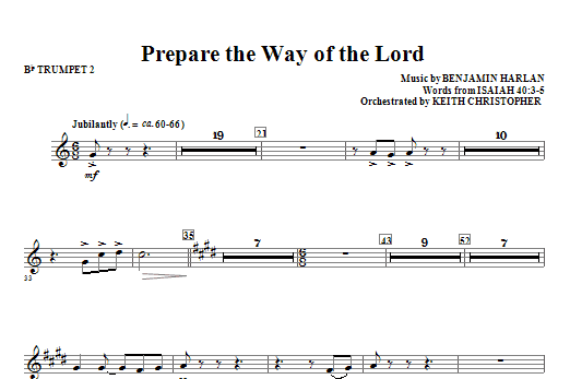 Prepare The Way Of The Lord - Bb Trumpet 2 Sheet Music