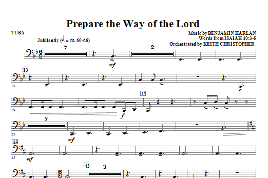 Prepare The Way Of The Lord - Tuba (Choir Instrumental Pak)