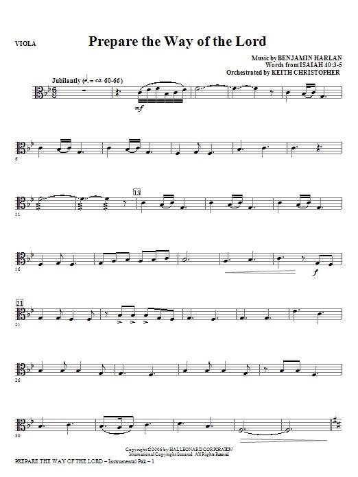 Prepare The Way Of The Lord - Viola (Choir Instrumental Pak)