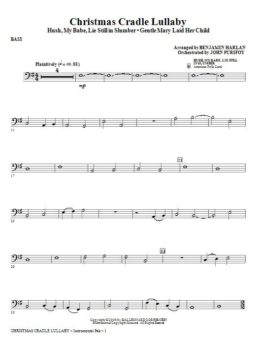 Christmas Cradle Lullaby - Bass Sheet Music
