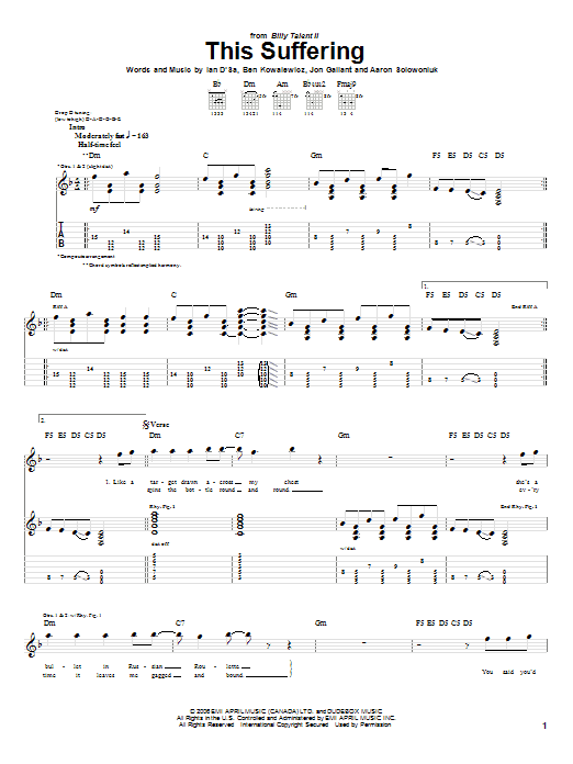This Suffering Sheet Music