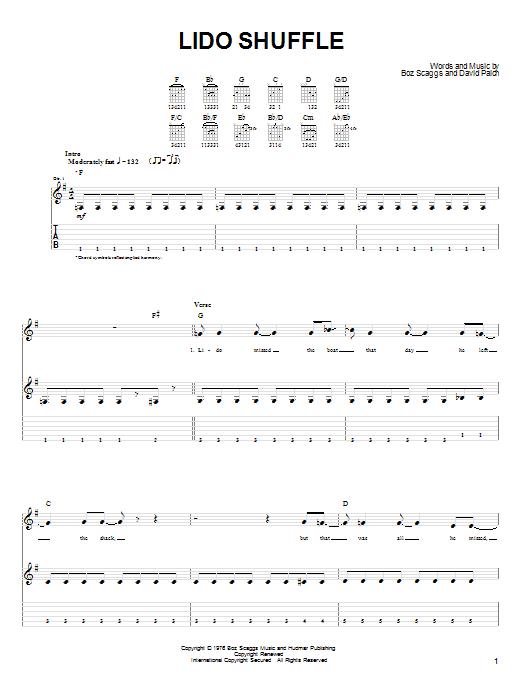 Lido Shuffle Sheet Music