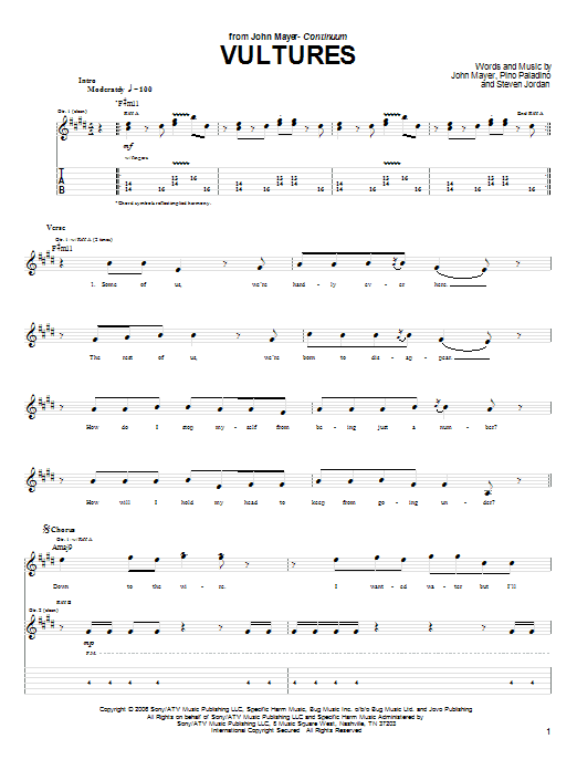Vultures Sheet Music