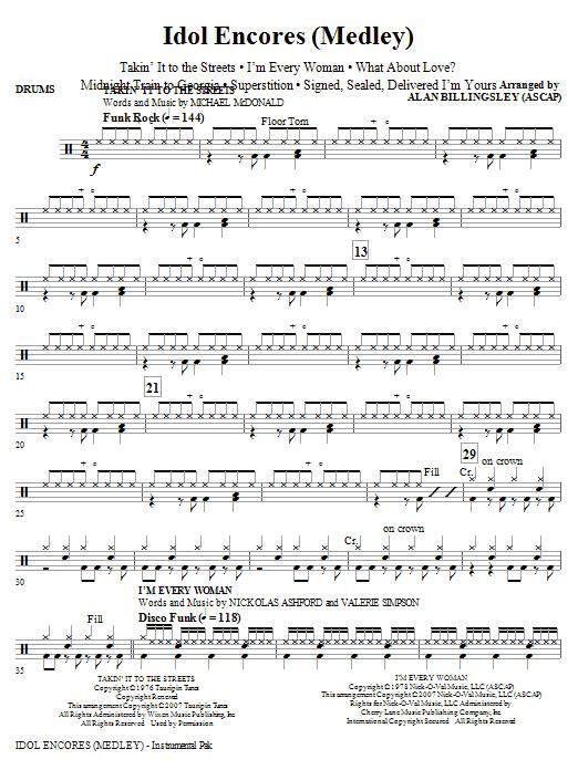 Idol Encores (Medley) - Drums (Choir Instrumental Pak)
