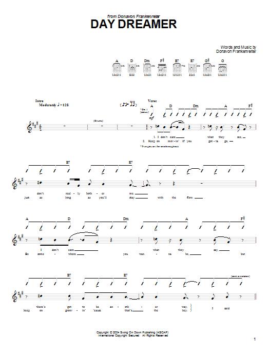 Day Dreamer Sheet Music