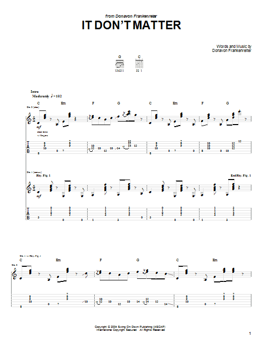 It Don't Matter (Guitar Tab)