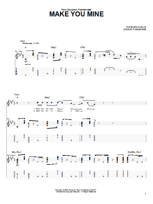 Make You Mine (Guitar Tab)