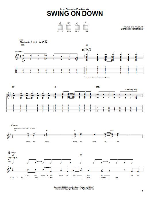 Swing On Down Sheet Music