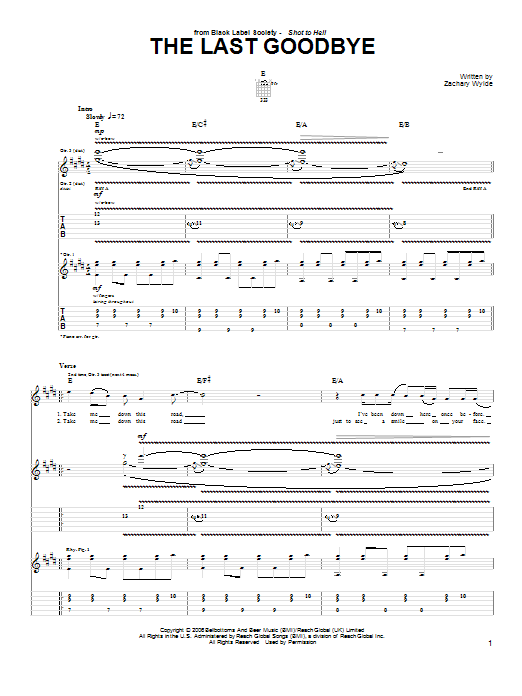 The Last Goodbye (Guitar Tab)