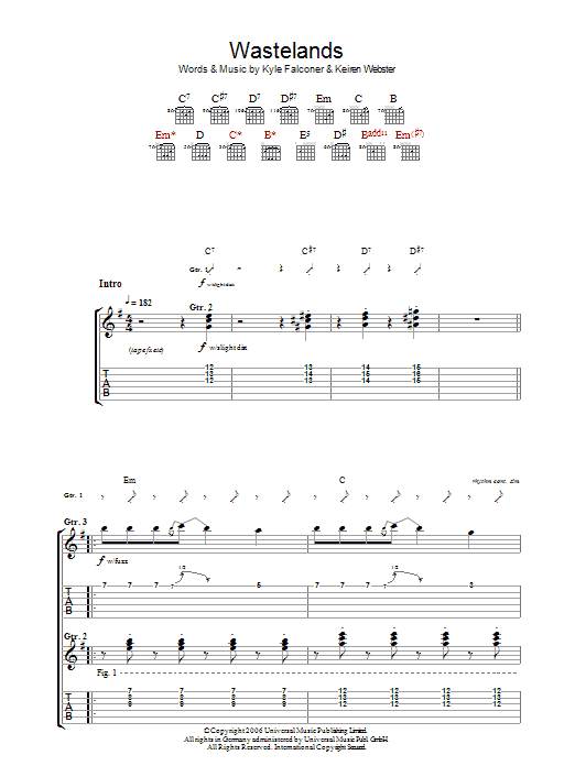 Wasteland Sheet Music