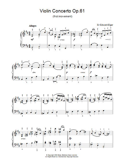 Violin Concerto Op.61 (first movement) (Piano, Vocal & Guitar)
