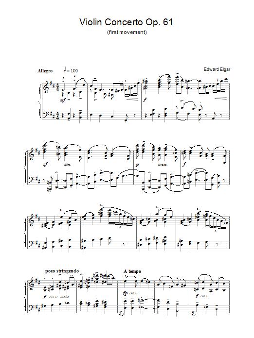 Violin Concerto Op.61 (1st Movement) Sheet Music