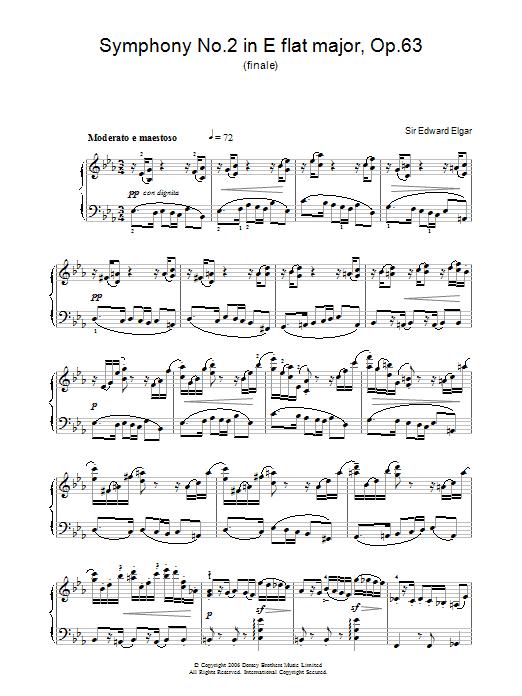 Symphony No.2 In E Flat Major, Op.63 (finale) (Piano Solo)