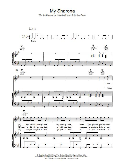My Sharona (Piano, Vocal & Guitar)
