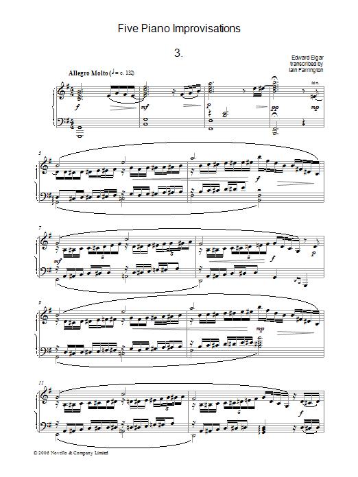 Five Piano Improvisations: 3. Allegro Molto (Piano Solo)
