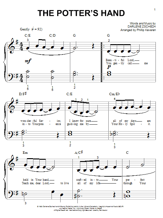 The Potter's Hand (Piano (Big Notes))