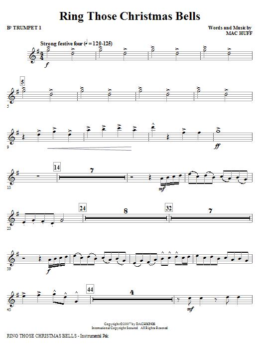 Ring Those Christmas Bells - Bb Trumpet 1 Sheet Music