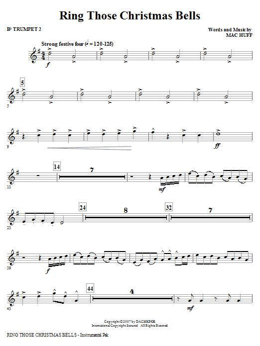 Ring Those Christmas Bells - Bb Trumpet 2 Sheet Music