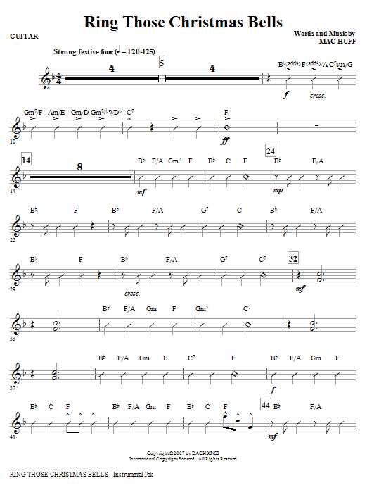 Ring Those Christmas Bells - Guitar Sheet Music