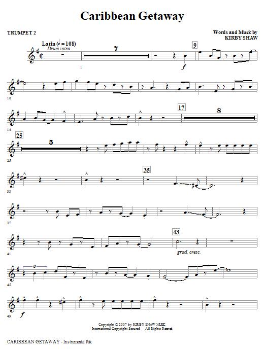 Caribbean Getaway - Bb Trumpet 2 Sheet Music