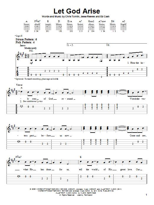 Let God Arise (Easy Guitar Tab)