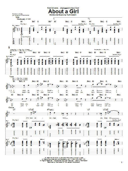 About A Girl Sheet Music