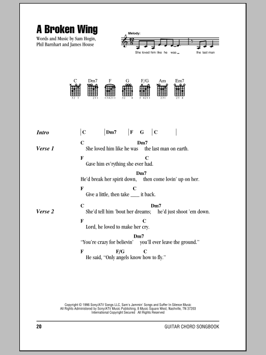 A Broken Wing Sheet Music