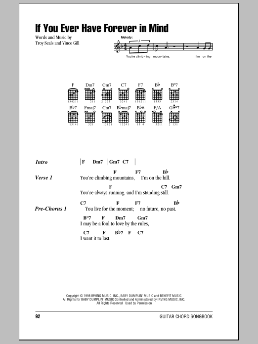 If You Ever Have Forever In Mind Sheet Music