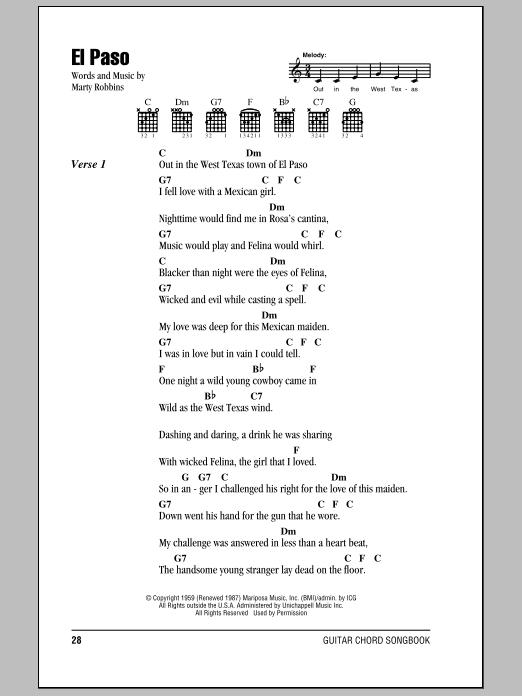 El Paso Sheet Music
