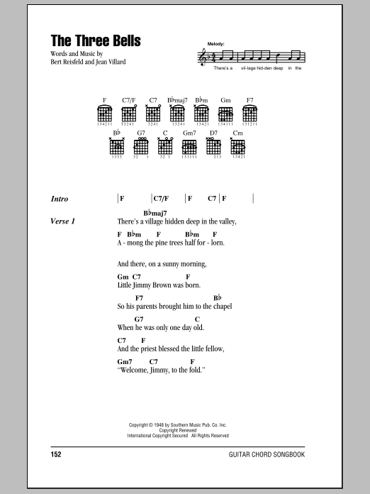 The Three Bells Sheet Music