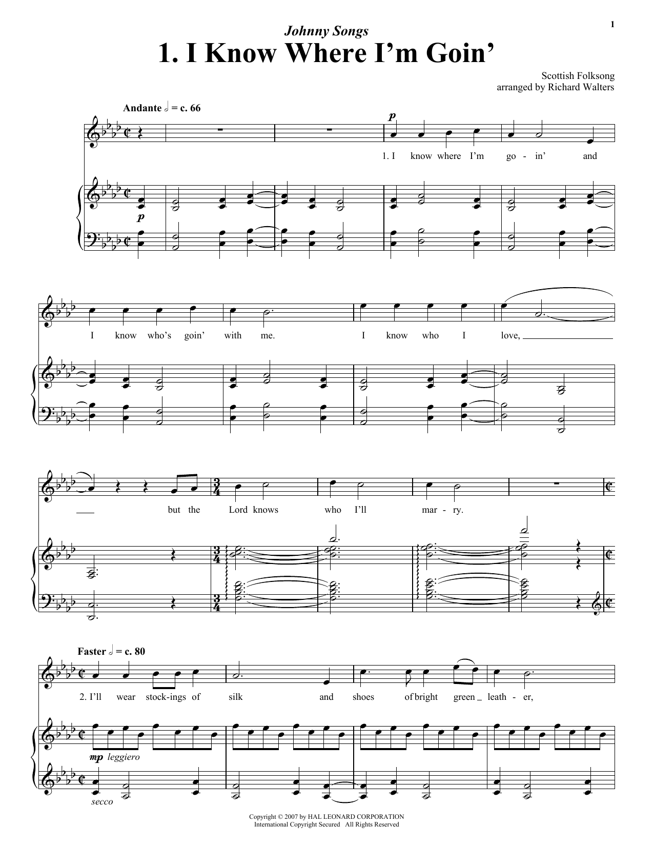 I Know Where I'm Goin' Sheet Music
