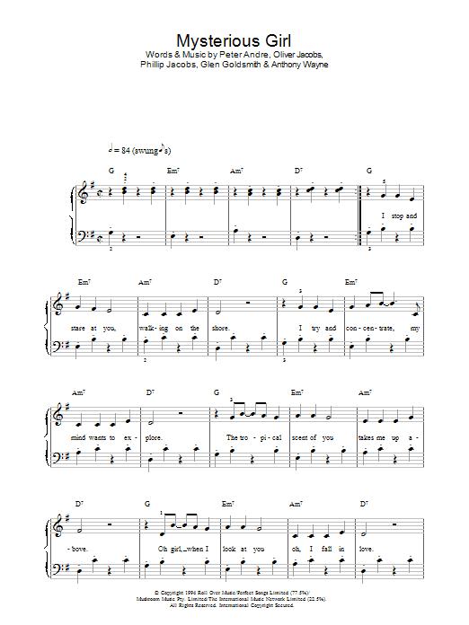 Mysterious Girl Sheet Music