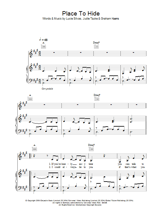 Place To Hide Sheet Music