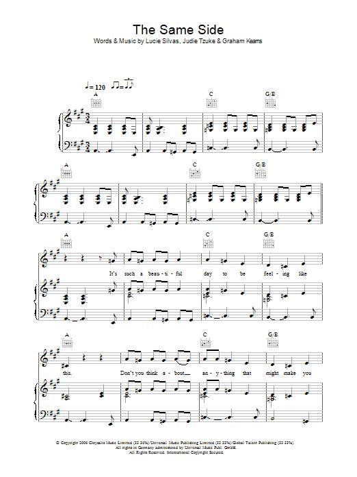 The Same Side (Piano, Vocal & Guitar)
