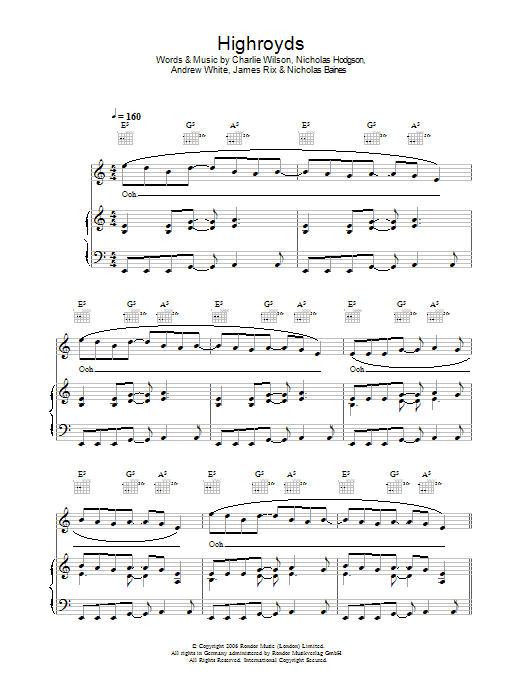 The Spirit Of The Lord Is Upon Me (Piano, Vocal & Guitar)