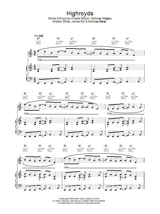 Highroyds Sheet Music