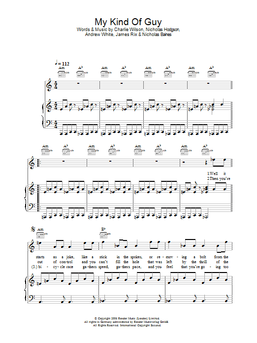 My Kind Of Guy Sheet Music