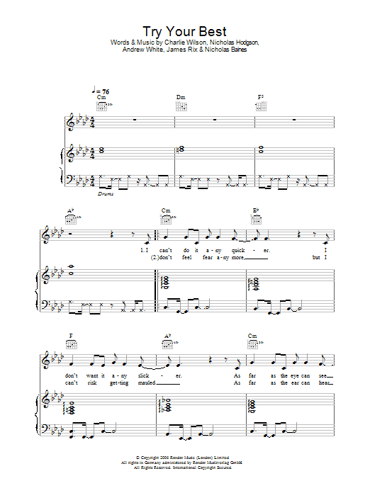 Try Your Best Sheet Music