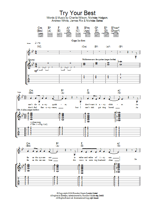Try Your Best (Guitar Tab)