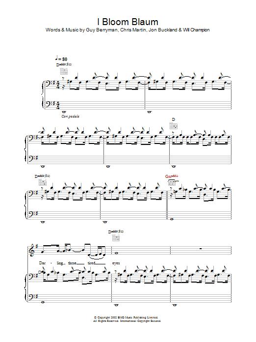 I Bloom Blaum (Piano, Vocal & Guitar)