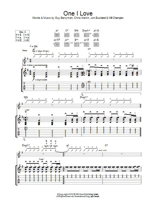 One I Love (Guitar Tab)