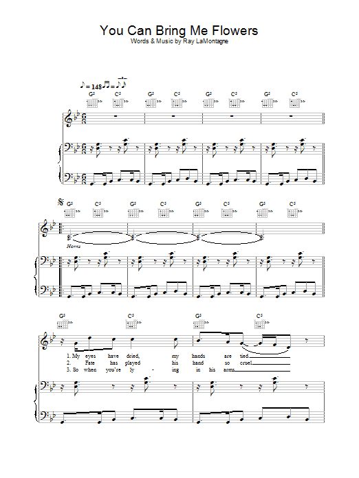 You Can Bring Me Flowers Sheet Music